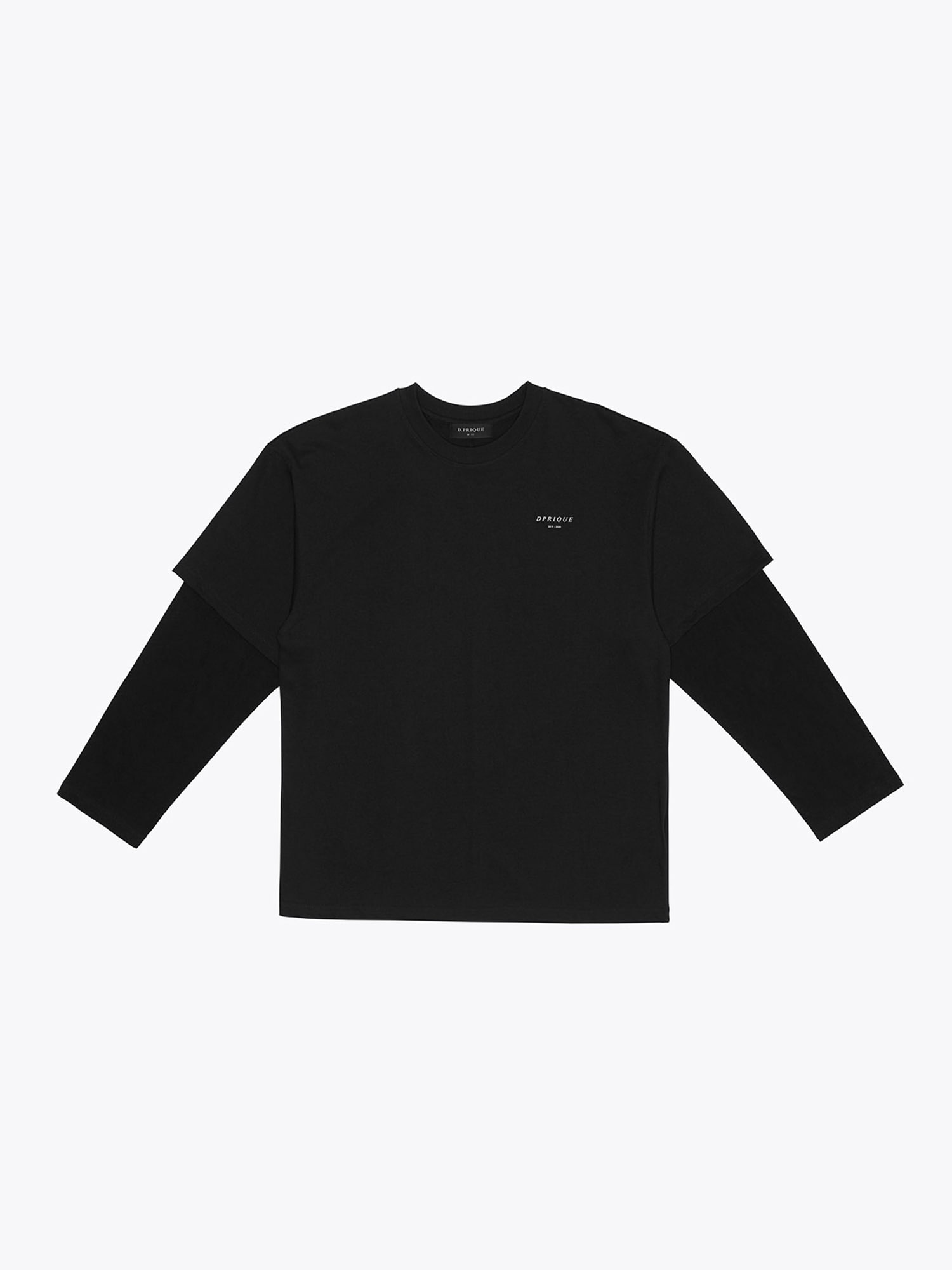 Oversized Layered T-Shirt - Black