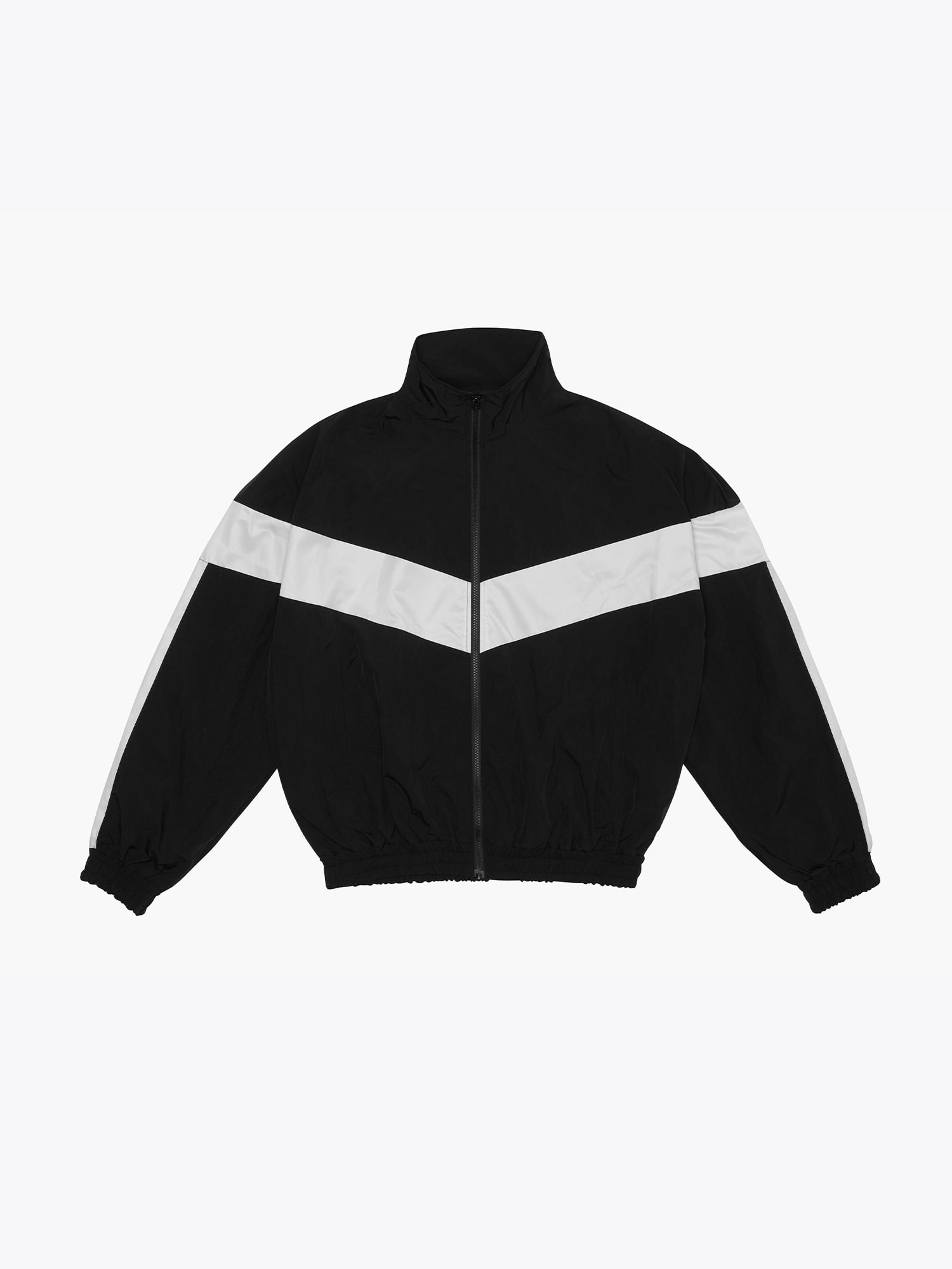 Contrast Track Jacket Black/white