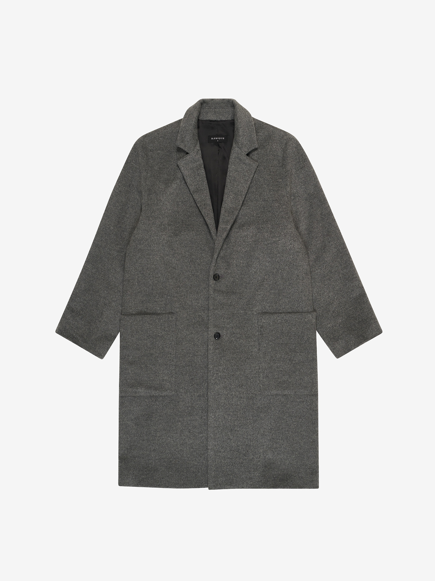 CASHMERE WOOL COAT - CHARCOAL