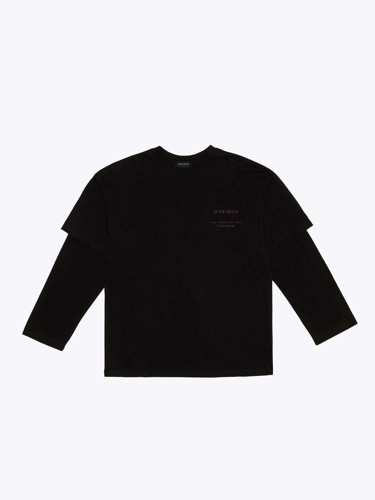 06 Layered T-Shirt - Black