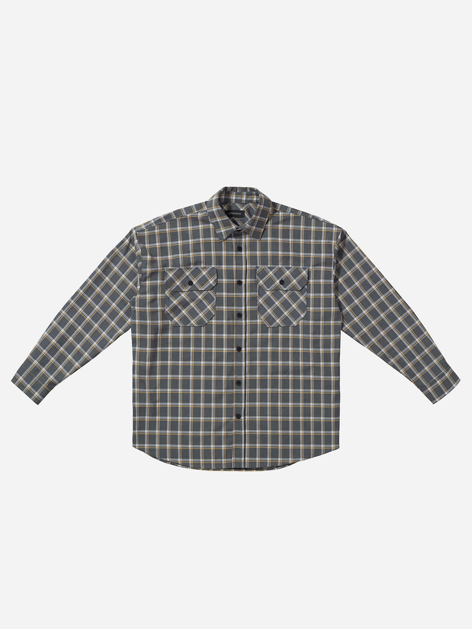 07 Oversized Check Shirt - Grey