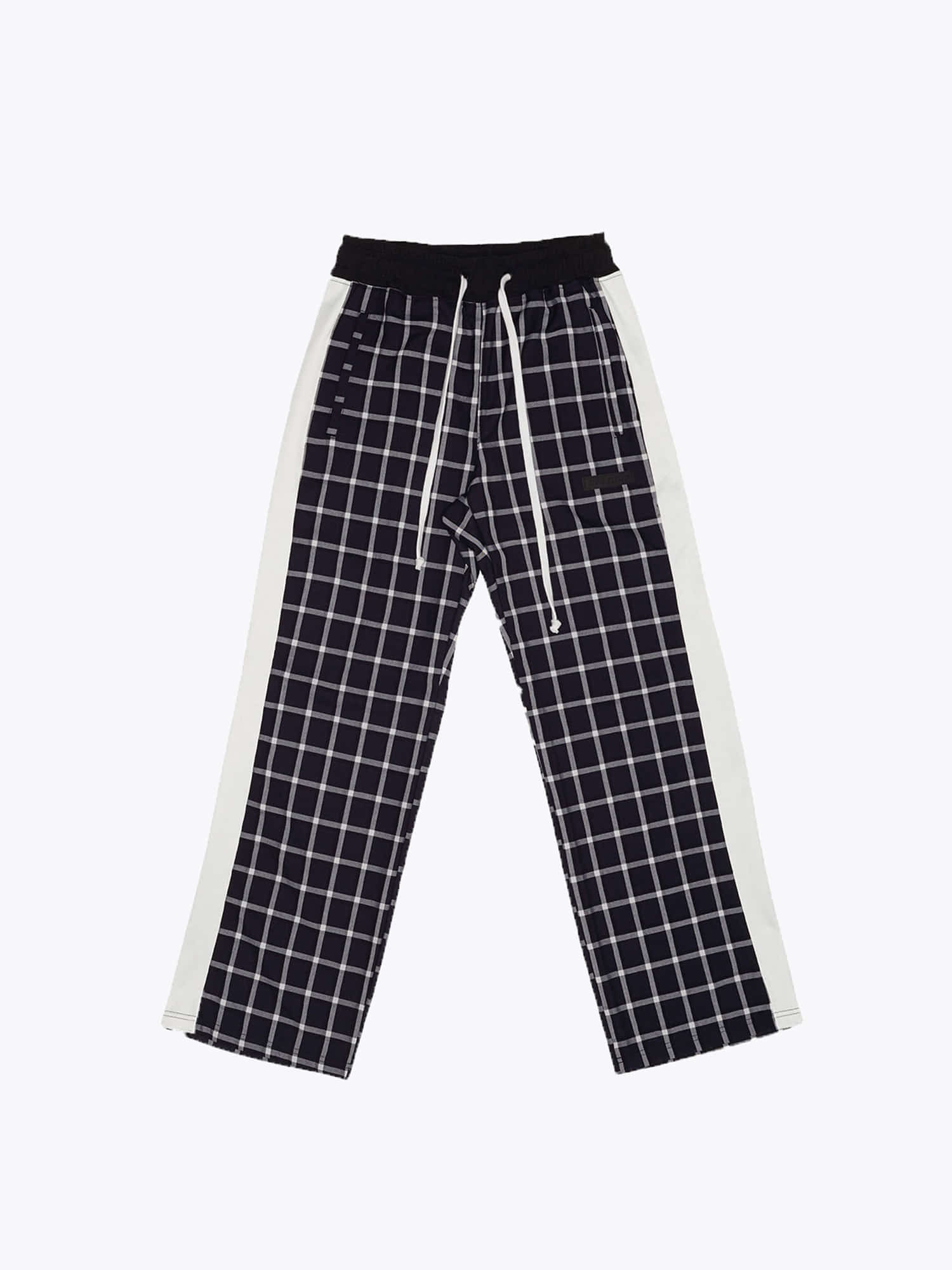 07 Check Track Pants - Navy/White