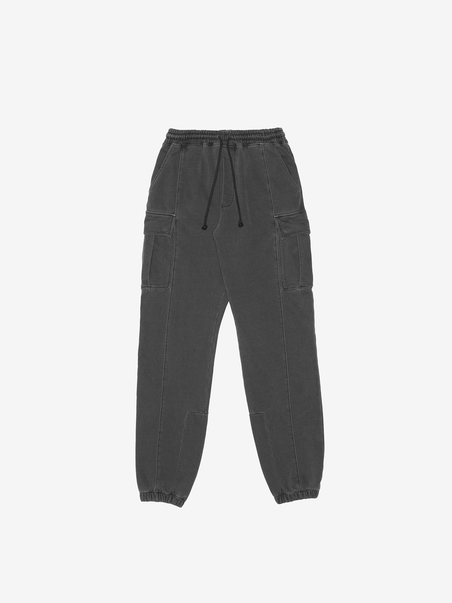 WASHED CARGO PANTS - BLACK