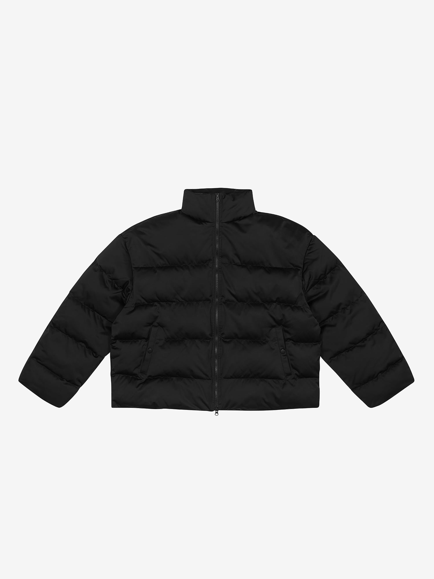 Oversized Padded Jacket - Black