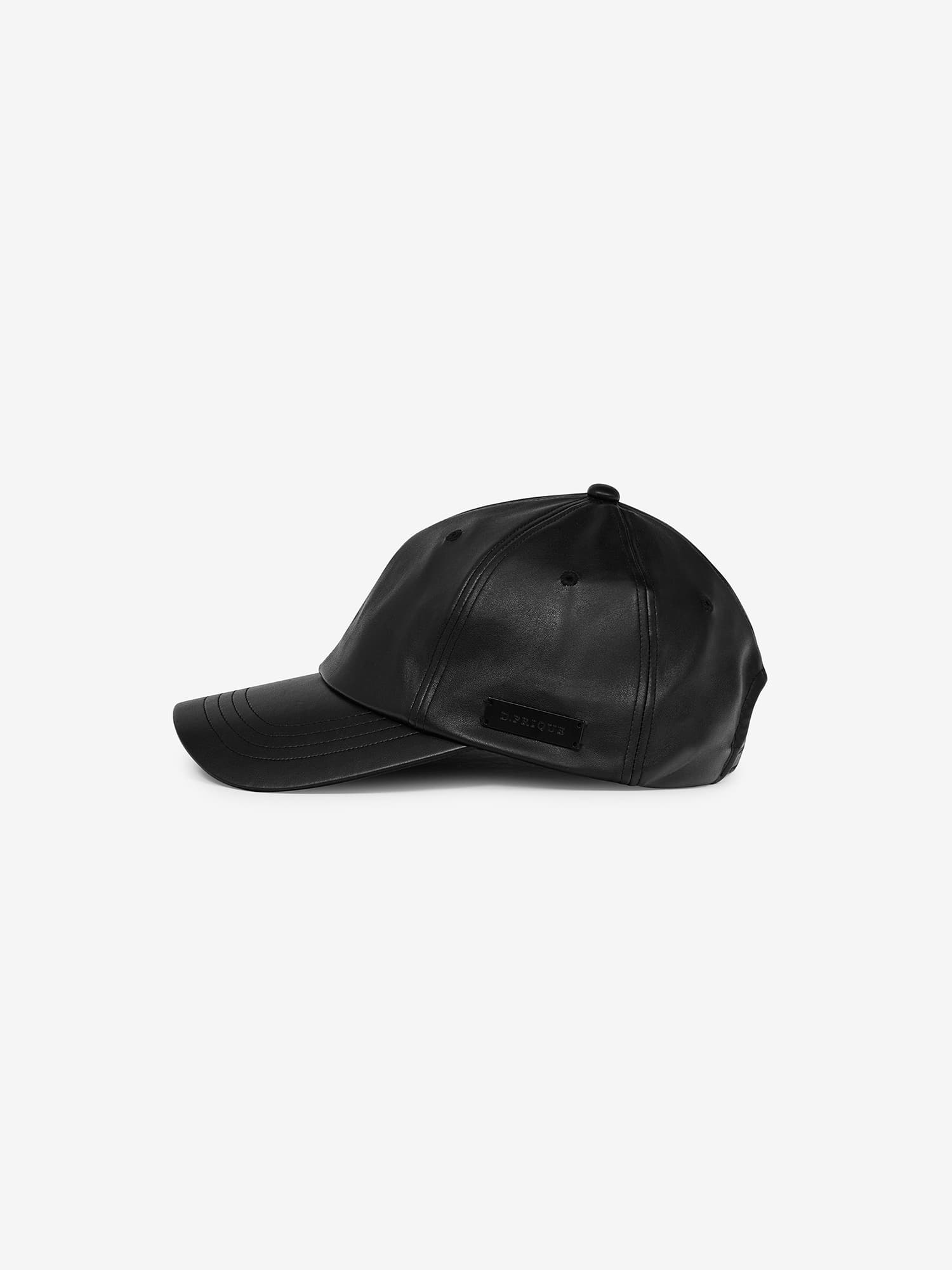ECO-LEATHER CAP - BLACK