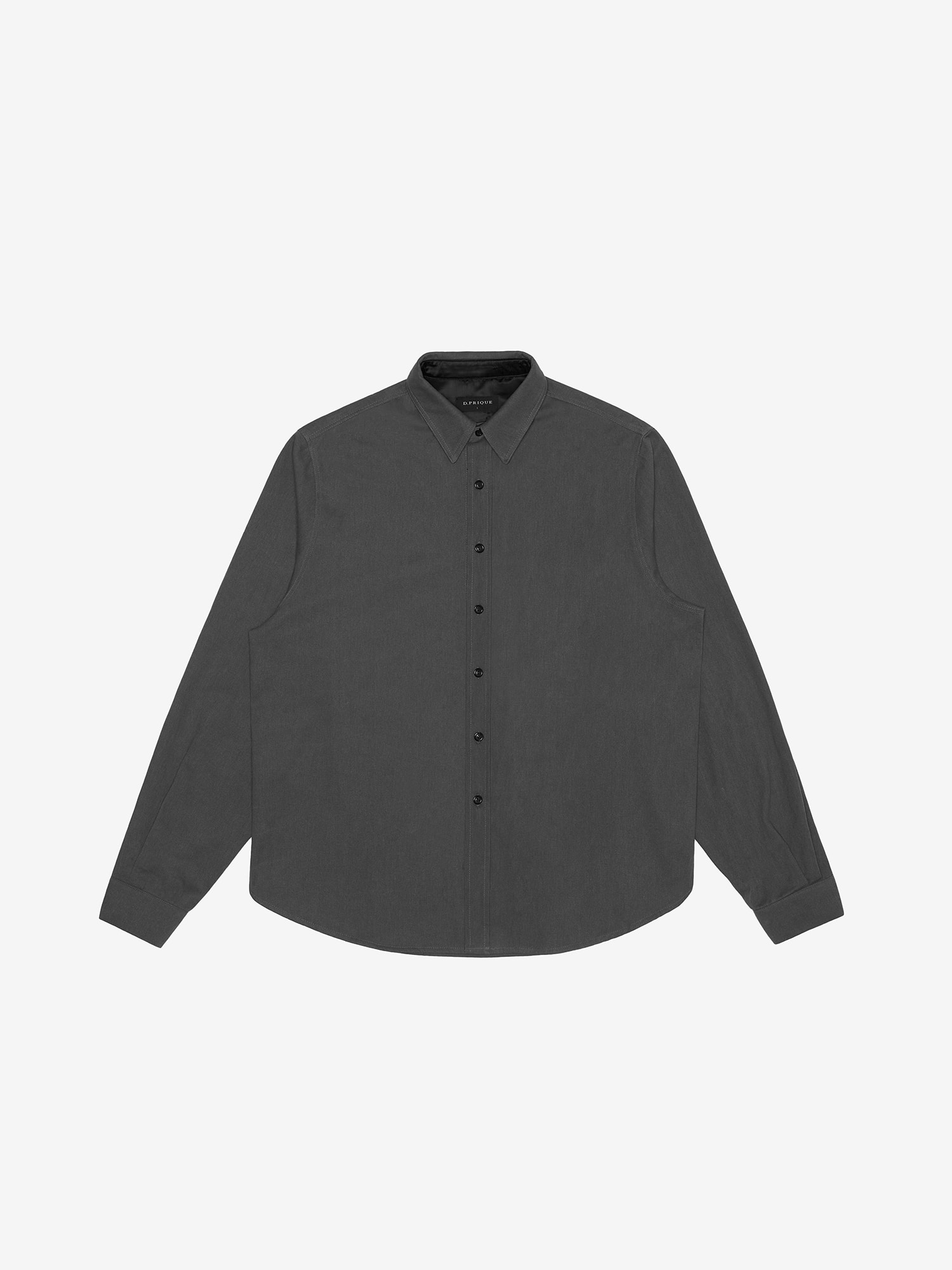 WASHED TWILL SHIRT - BLACK