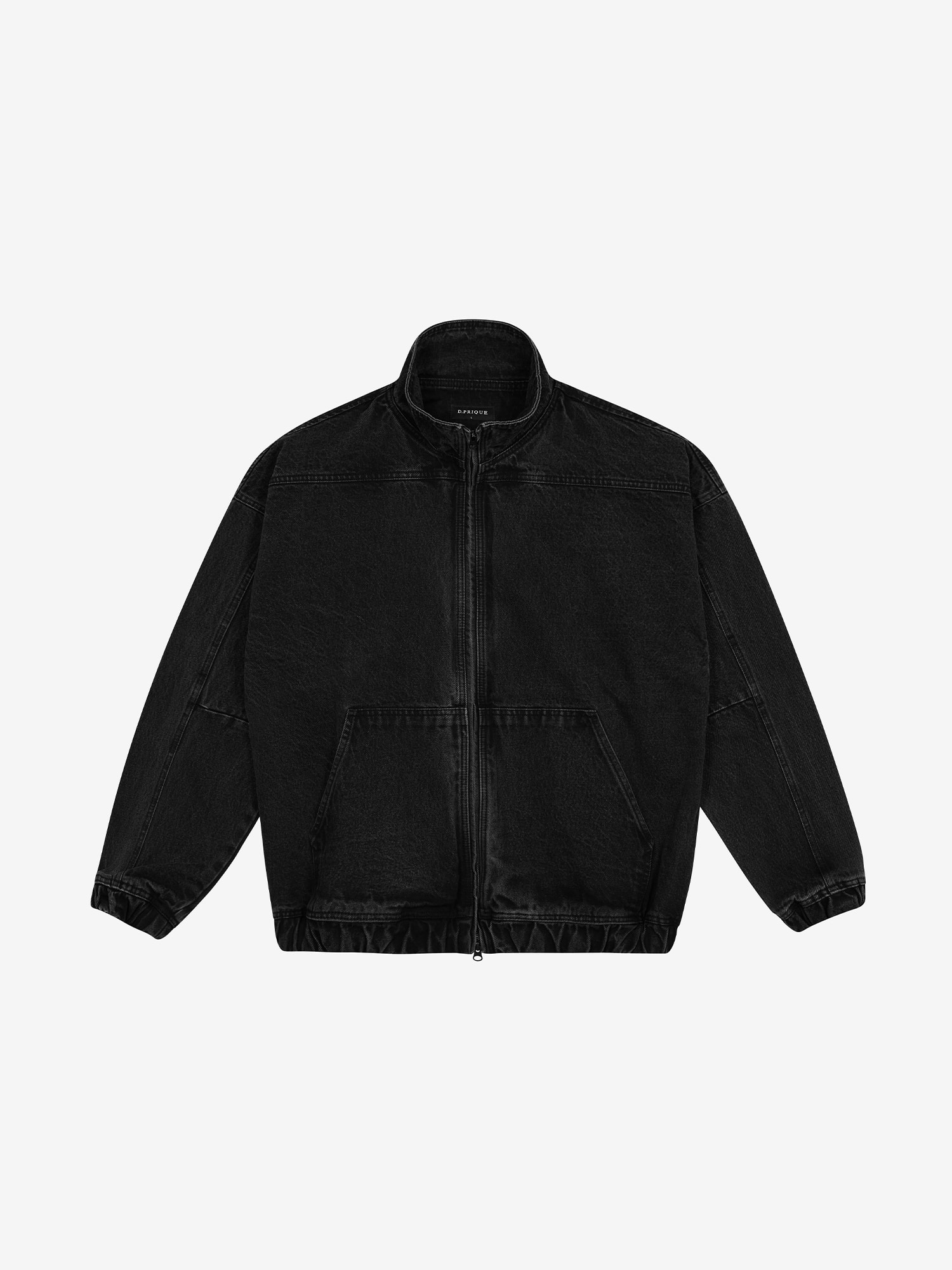PANEL ZIP-UP JACKET - Black