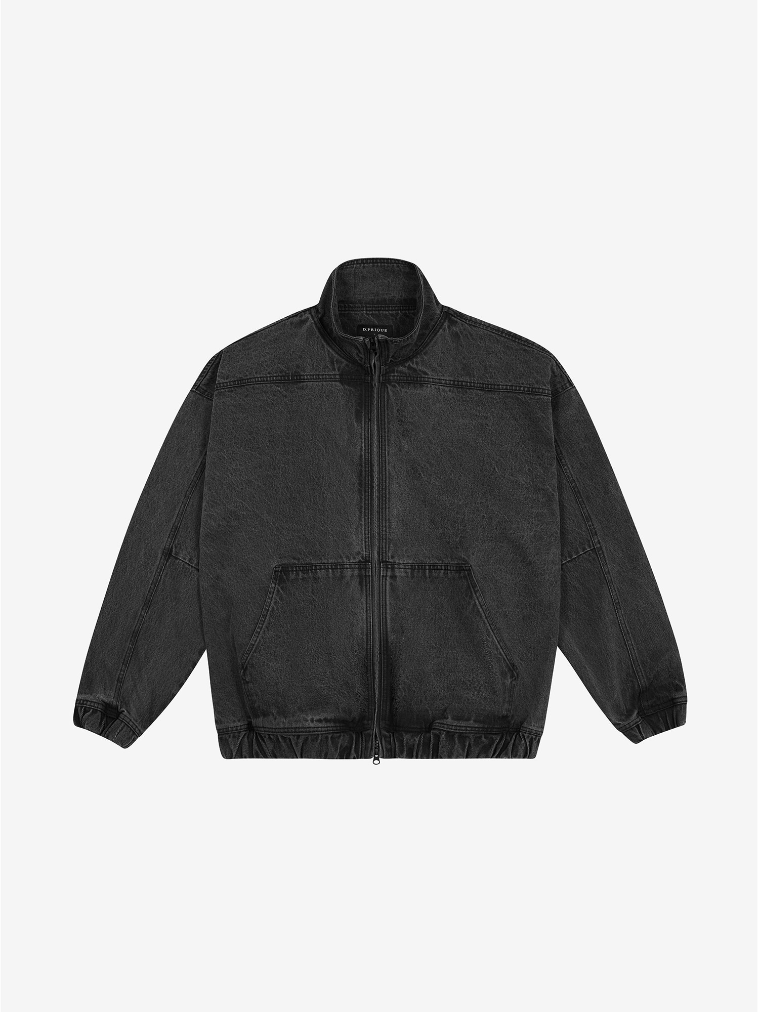 PANEL ZIP-UP JACKET - Grey