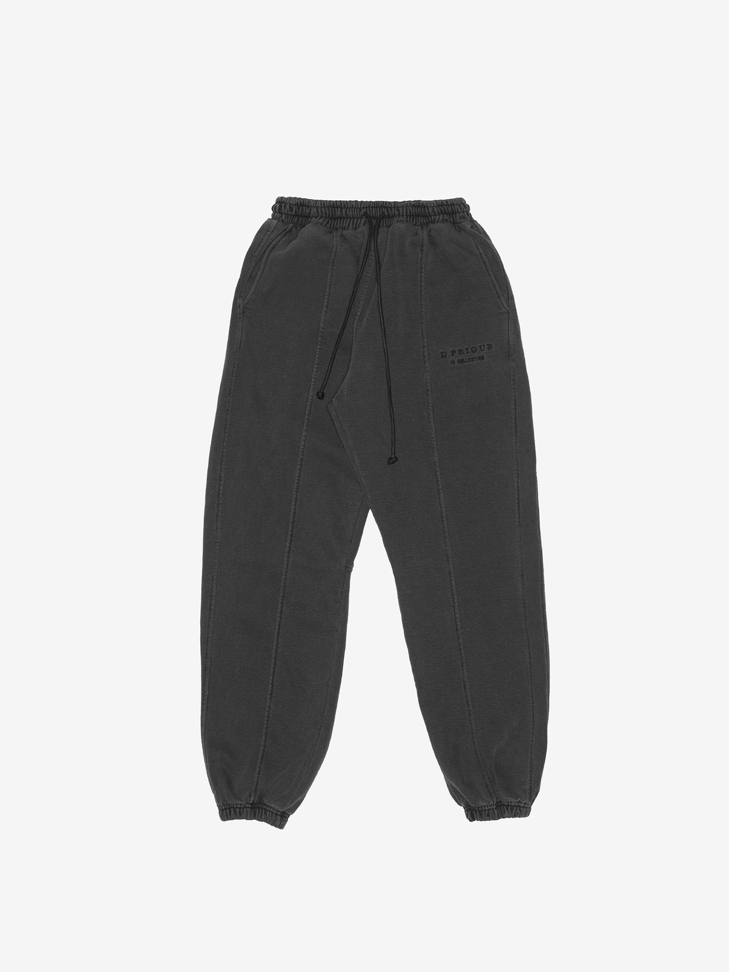 WASHED SWEATPANTS - Black