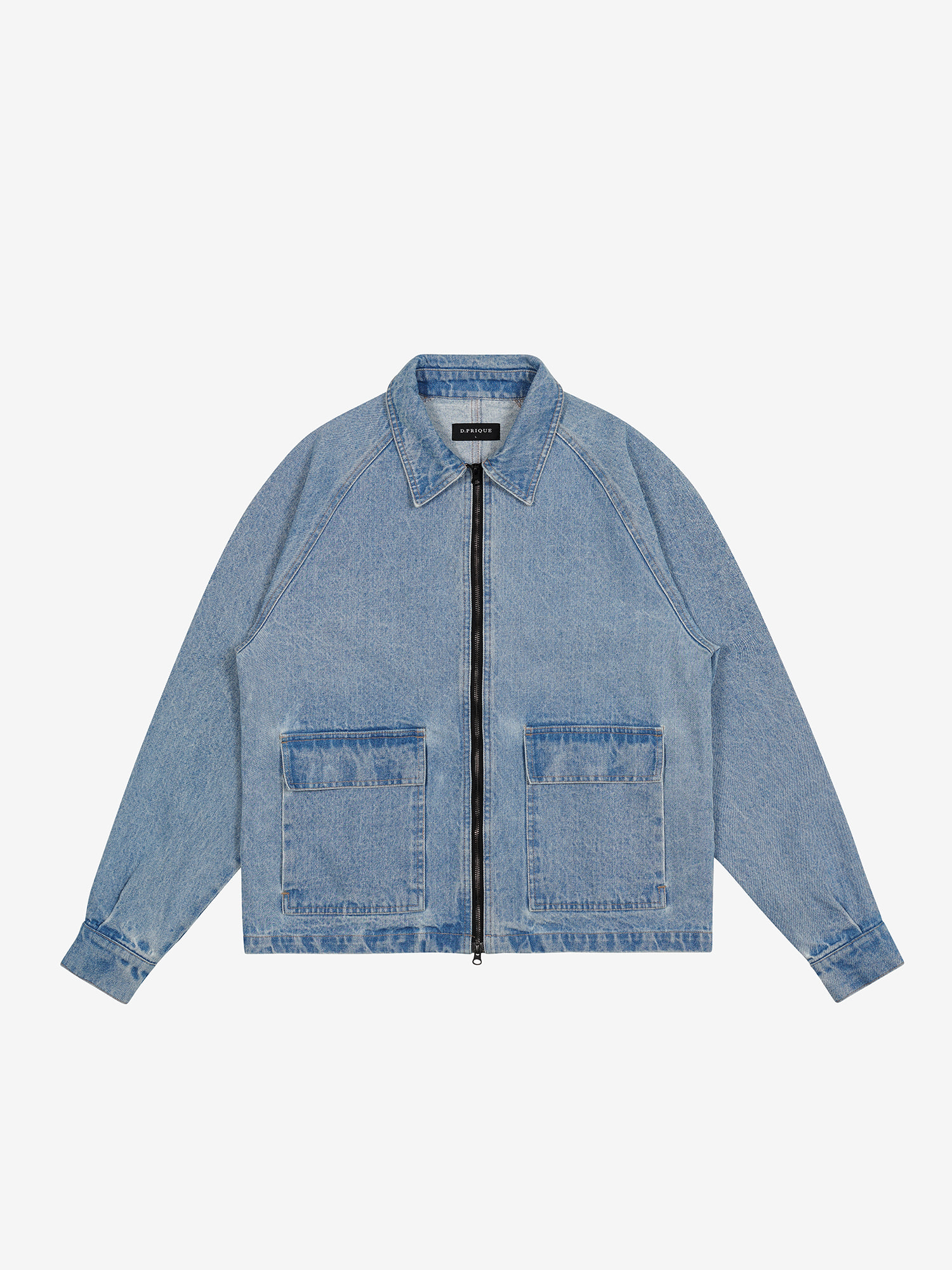 DENIM ZIPPER JACKET - BLUE