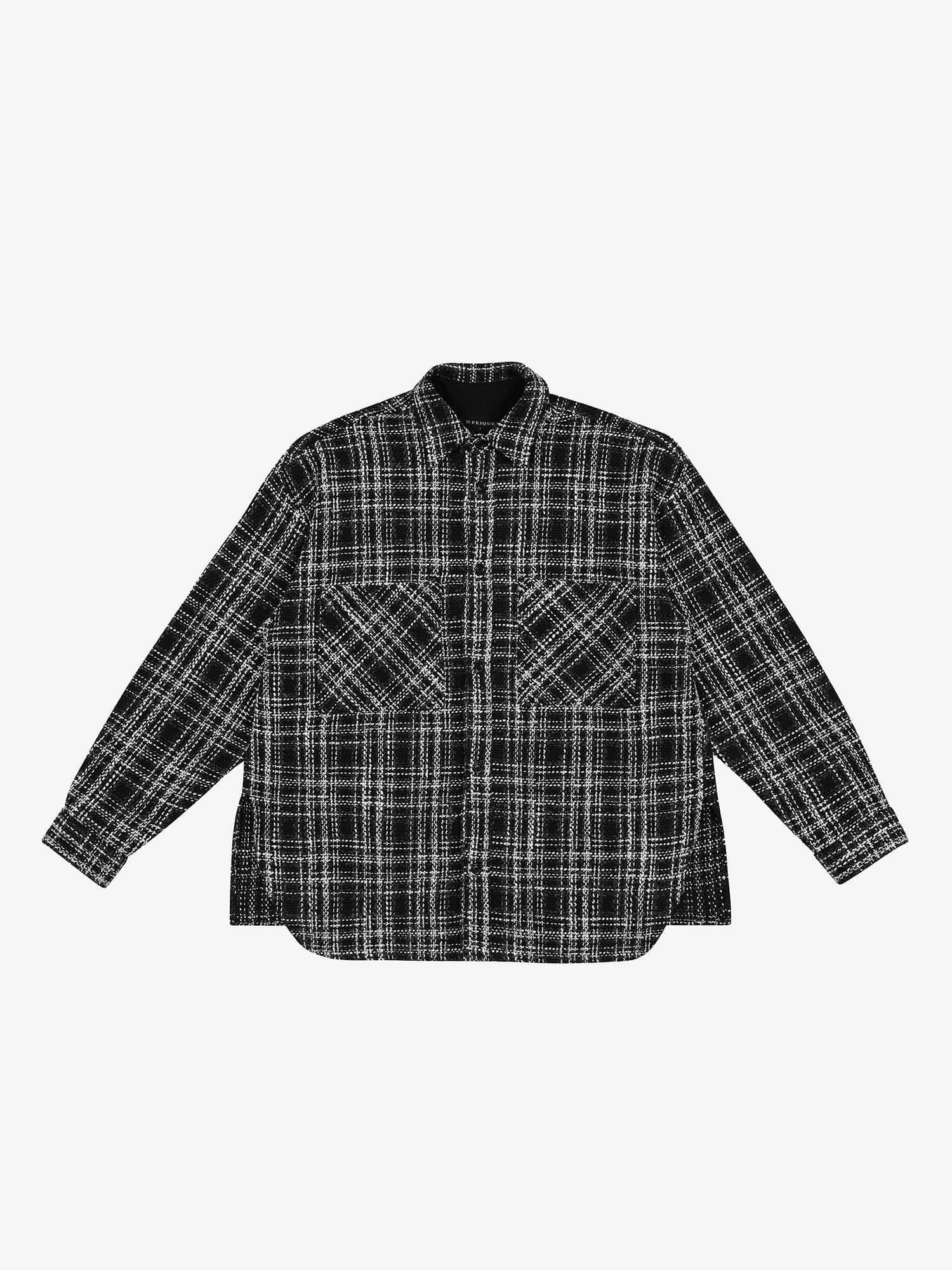 OVERSHIRT JACKET - Tweed Black